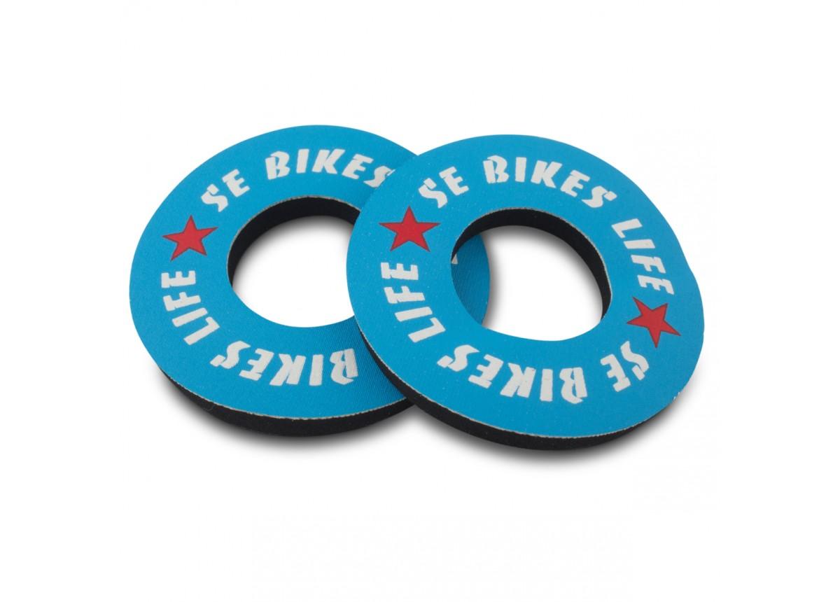 Old School BMX SE Bike Life Grip Donuts Blue by SE