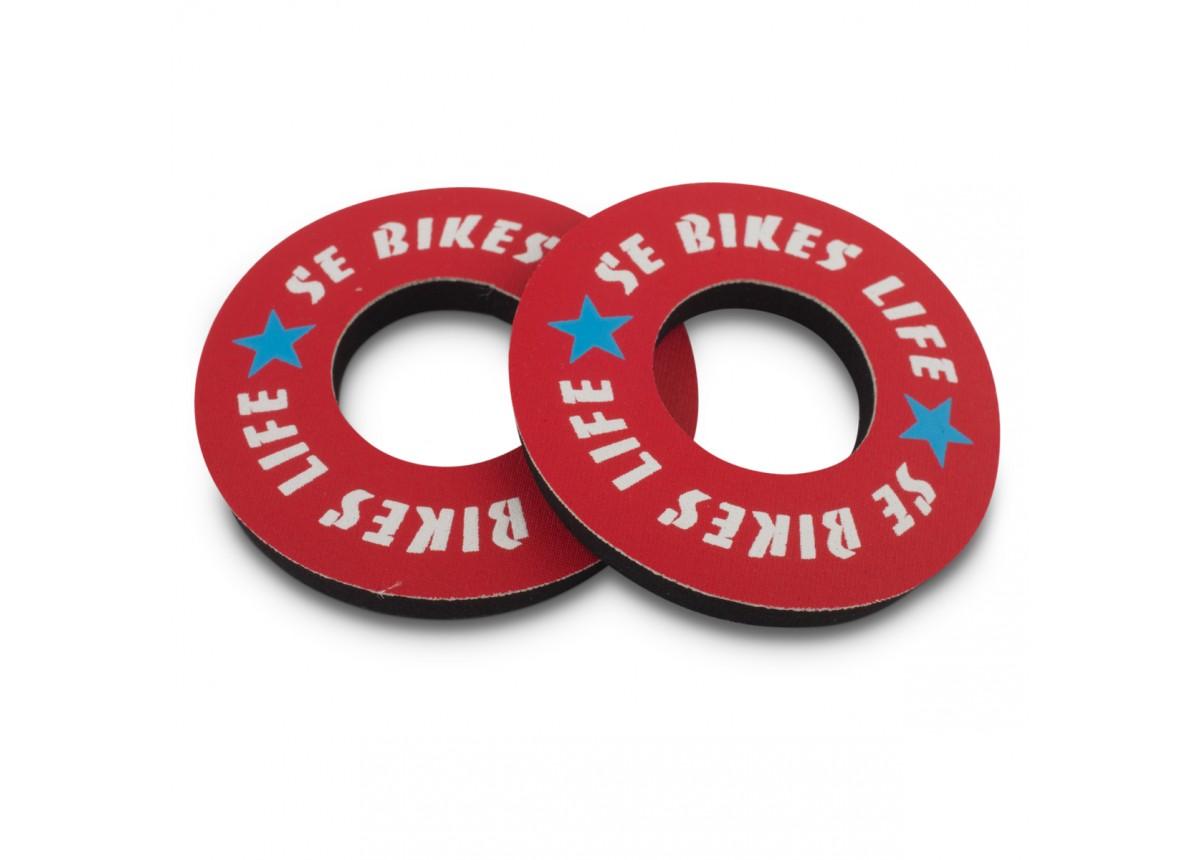 Old School BMX SE Bike Life Grip Donuts Red by SE
