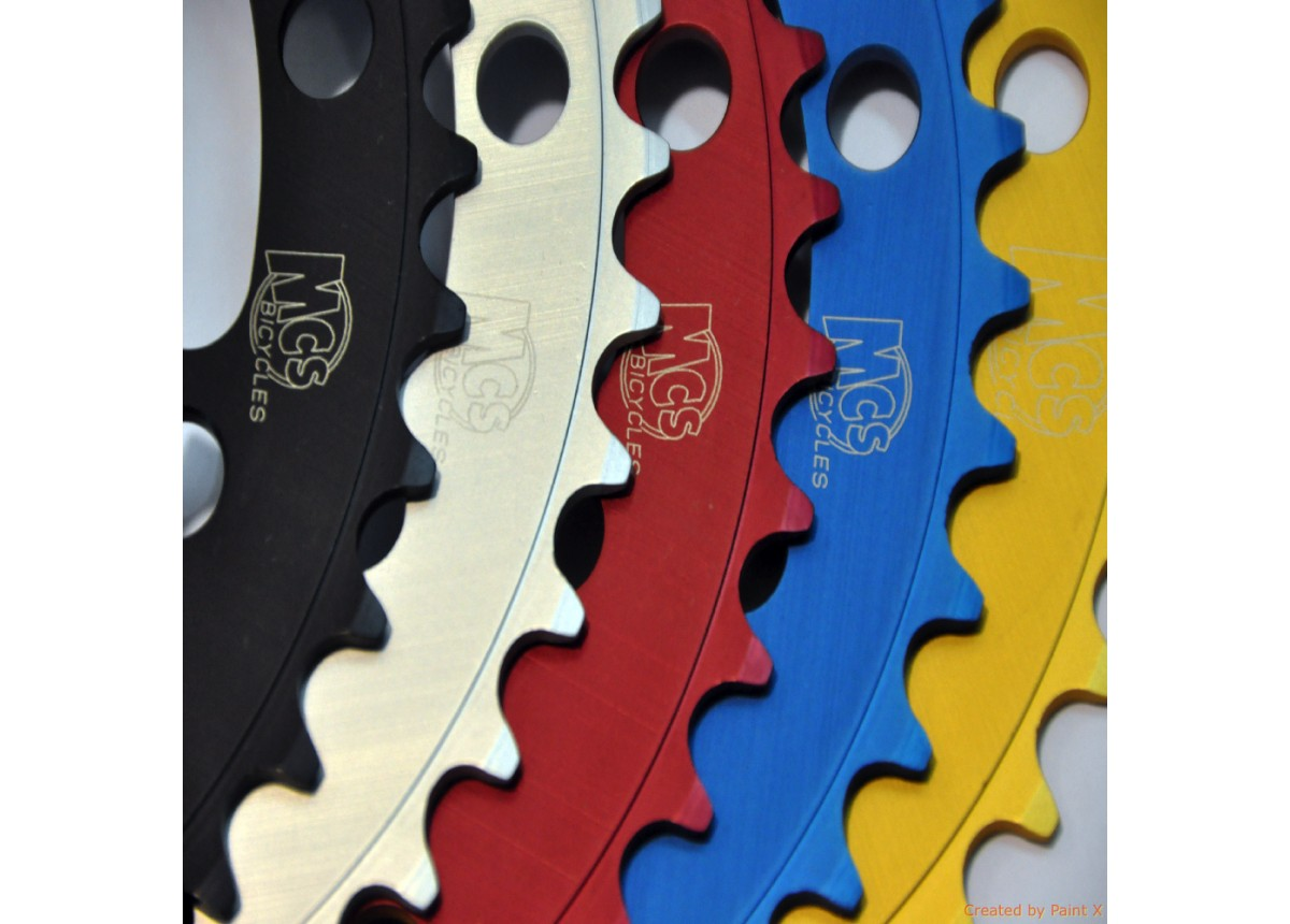 BMX 110BCD 5 Hole Chainring 39T Black - USA Made By MCS