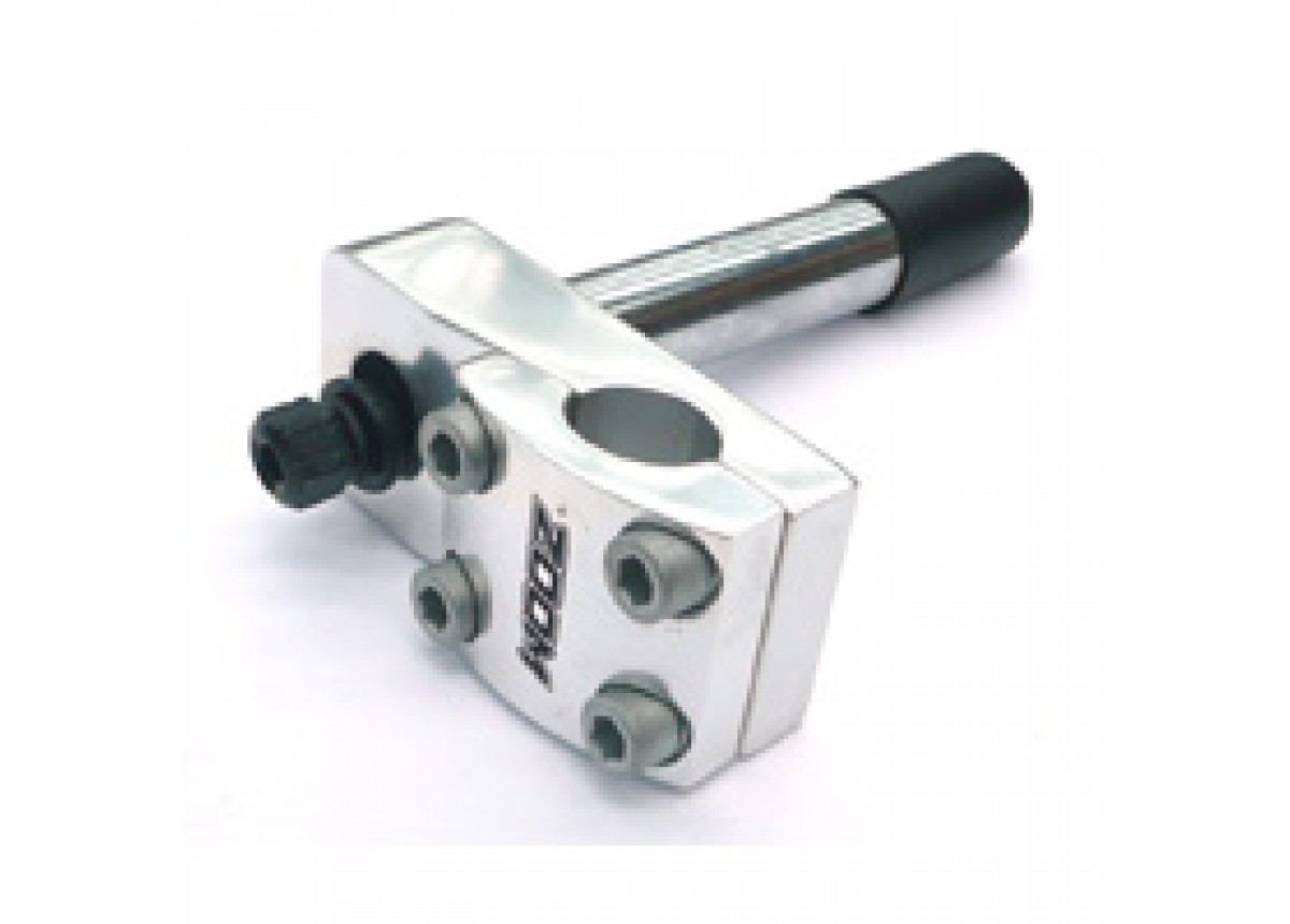 Head Stem, Alloy Top, Steel Tube, Hollow Bolt, 50mm Extension, Bb 2.1mm, Dia 22.2mm Silver