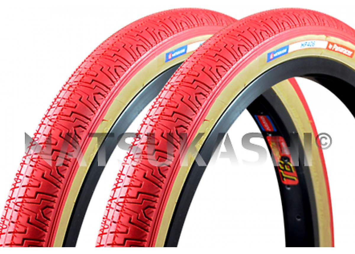 Old School BMX Red 20 X 1.75 HP406 Freestyle Tyre by Panaracer