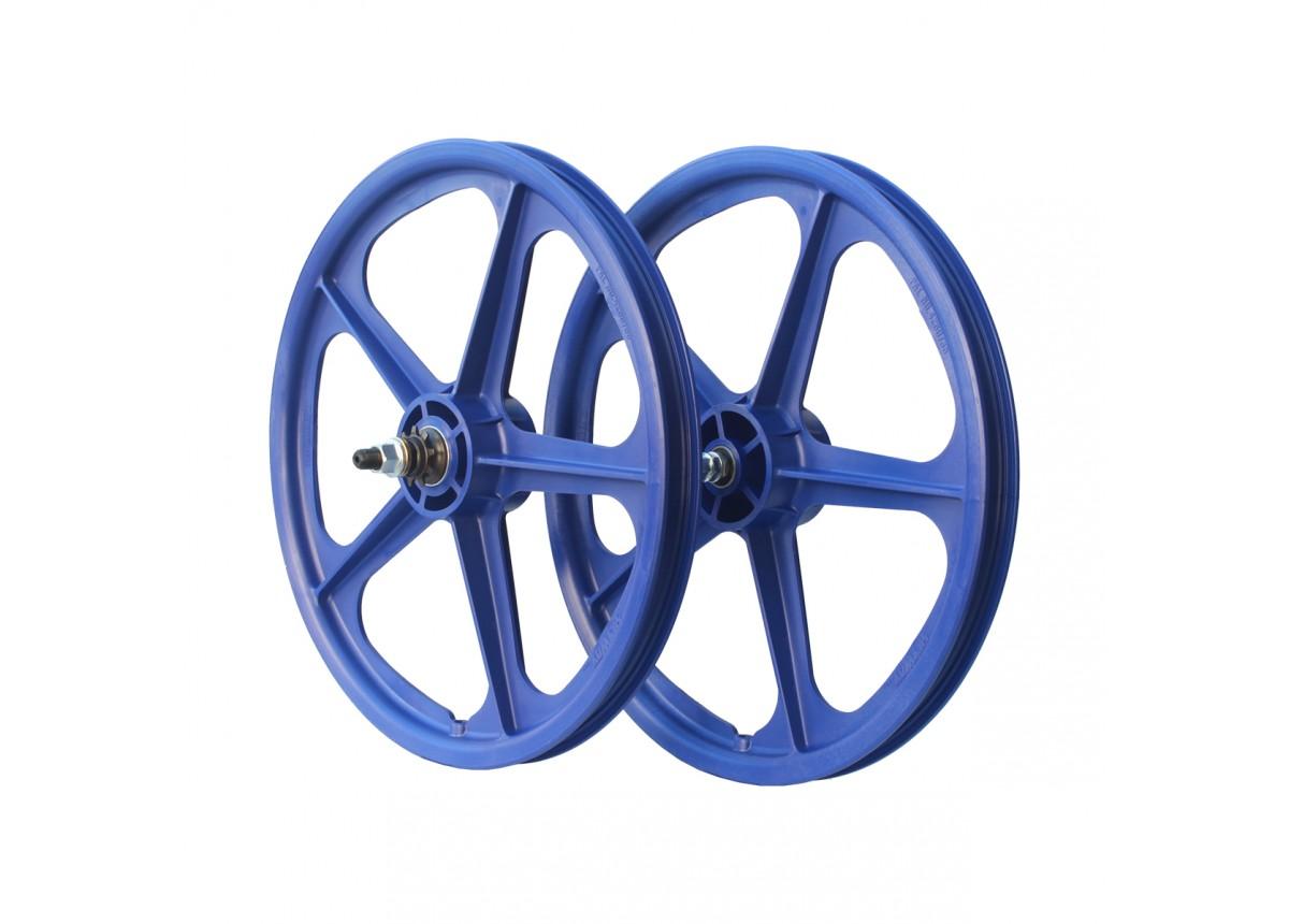 """Old School BMX 20"""" Blue Skyway Tuff Cassette Wheels 9T by Skyway"""