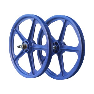 "Old School BMX 20"" Blue Skyway Tuff Cassette Wheels 9T by Skyway"