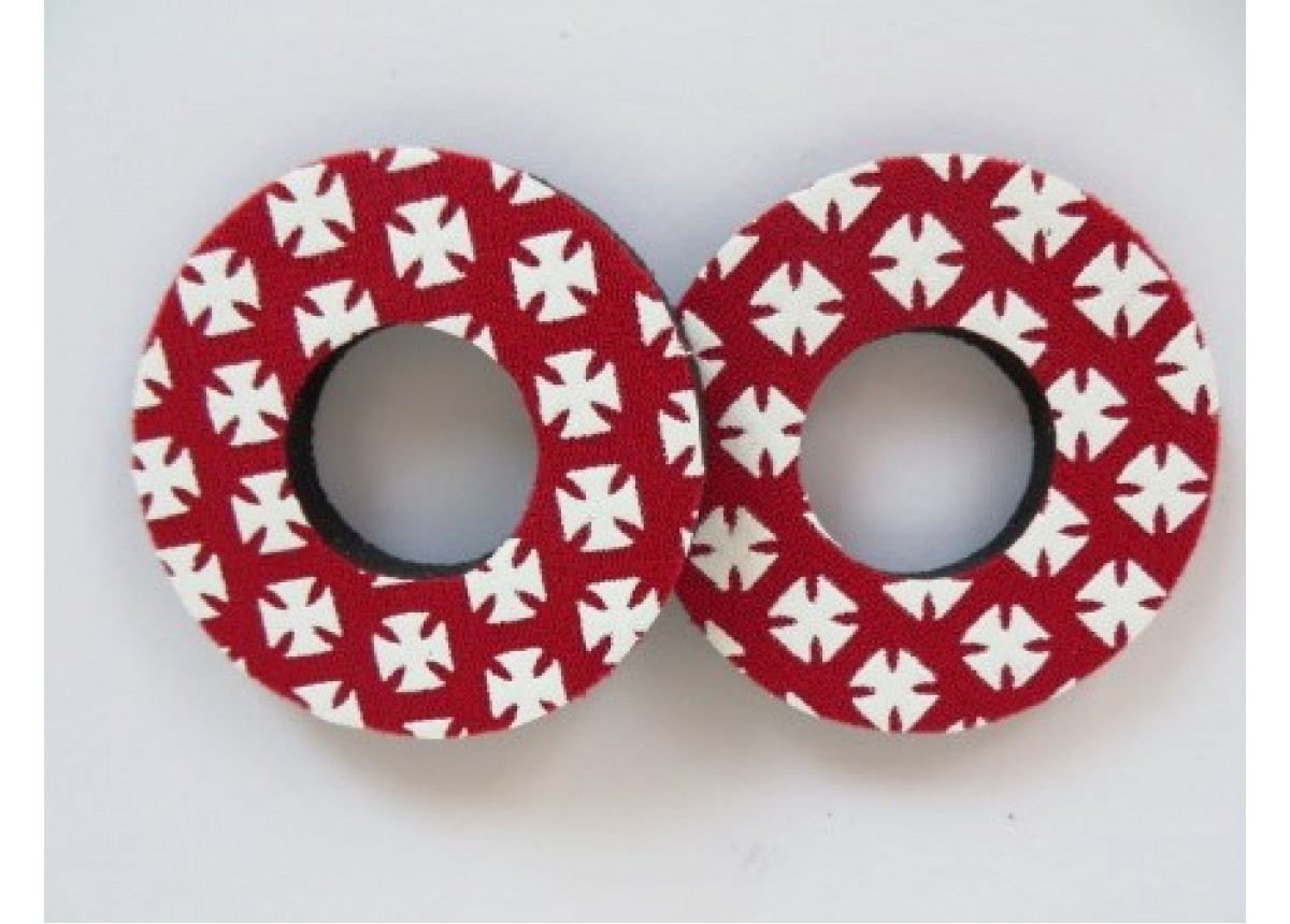 Pairs Flite Old School BMX Grip Donuts Red /& White