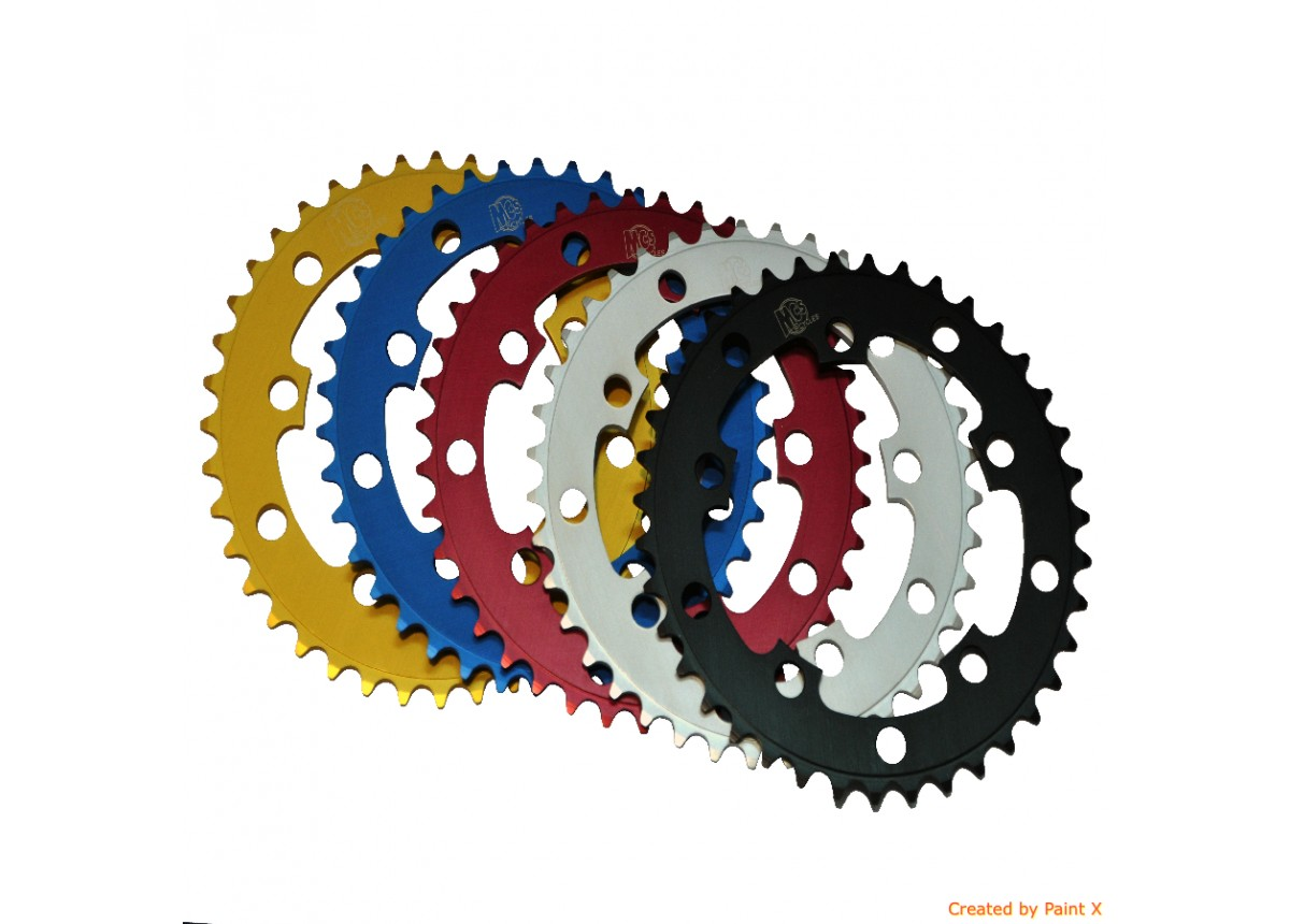 BMX 110BCD 5 Hole Chainring 38T Silver - USA Made By MCS