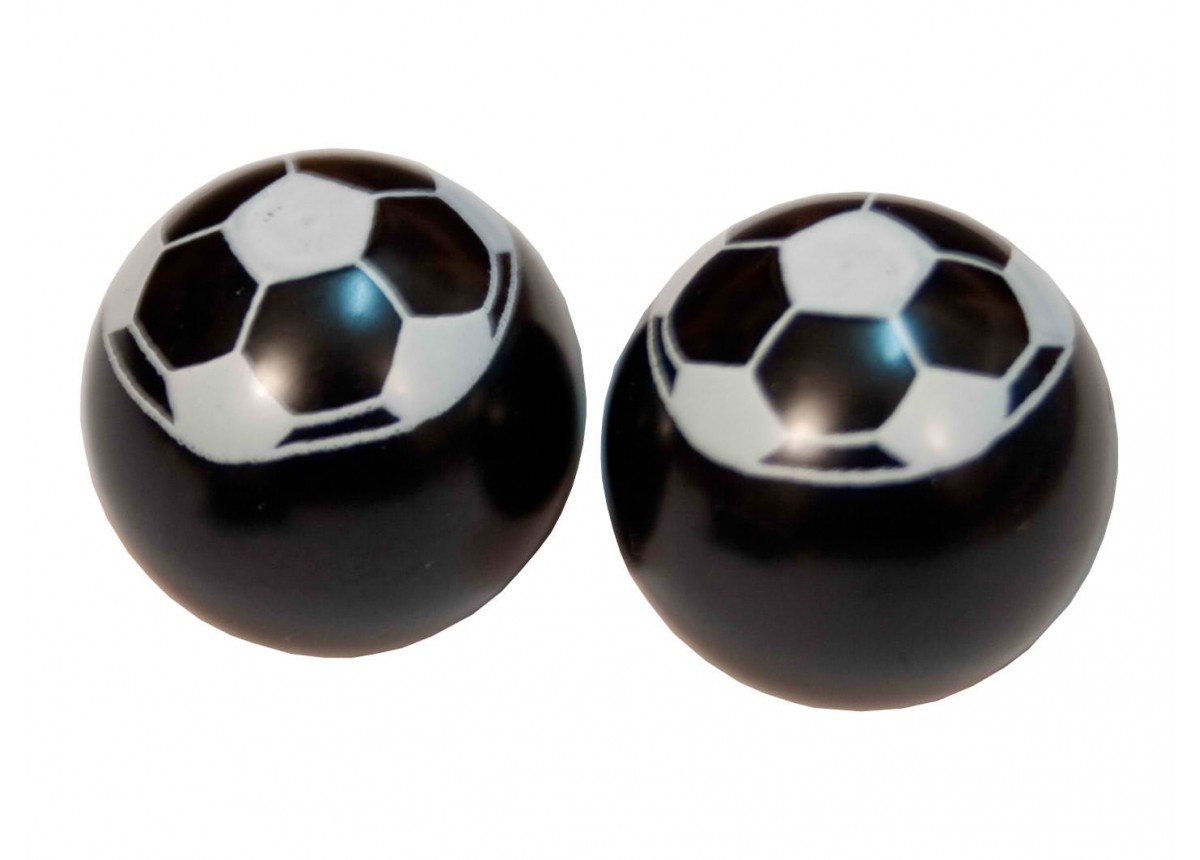 BMX Football Valve Caps Pack of 10 Black/White by Prime Aero