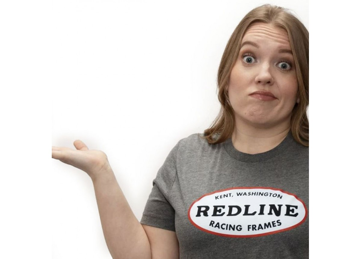 BMX Oval Logo T-Shirt Grey XS by Redline