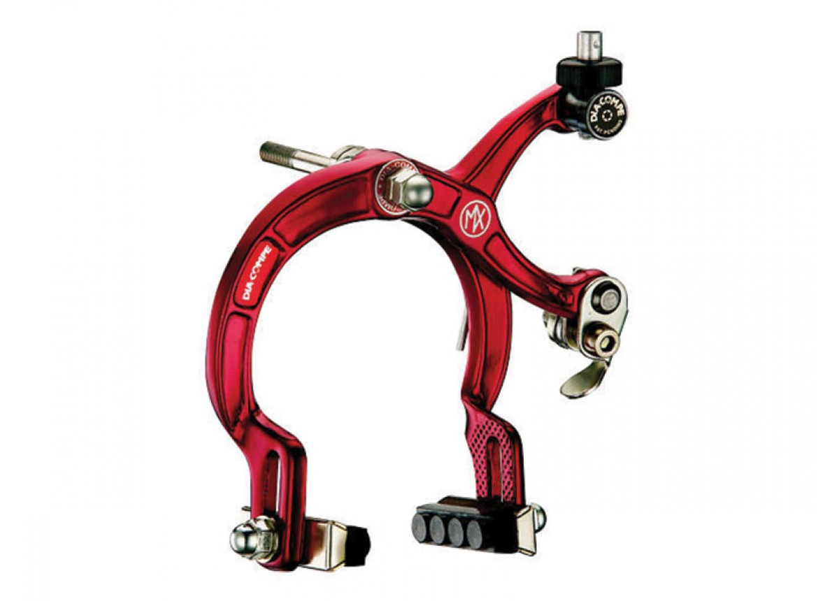 890 style old school BMX bicycle REAR brake caliper RED ANODIZED