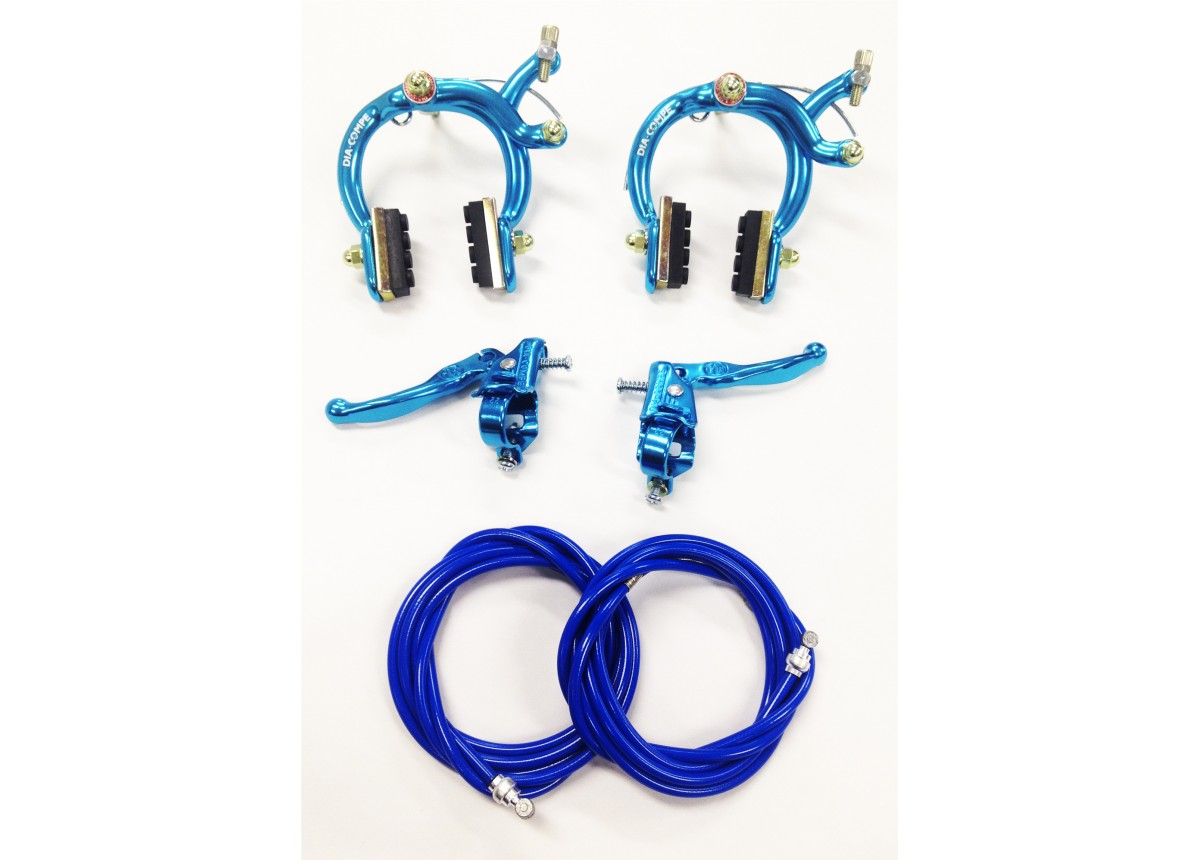 Old School Bmx Blue Mx 890 Dia Compe Brakes Set Front And