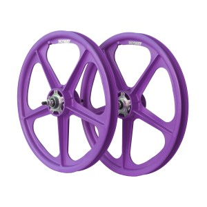 "Old School BMX 20"" Purple  Skyway Wheels with Flanges by Skyway"