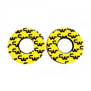 Old School BMX CW Racing Grip Donuts Yellow with Black by Flite
