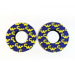 Old School BMX CW Racing Grip Donuts Black With Yellow by Flite