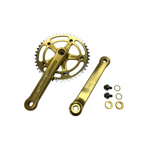 Old School BMX 3 Piece Crank Gold by Old School BMX