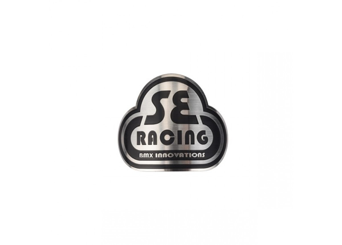 Old School BMX SE Racing Head Badge - Stainless Steel by SE