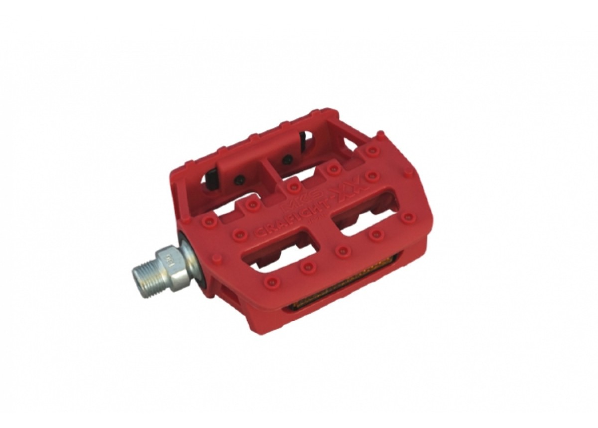"Old School BMX GRAFIGHT XX Pedal 1/2"" Red by MKS"
