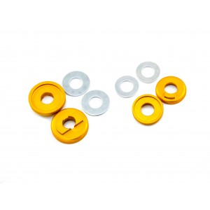 Old School BMX 3/8 Drop Out Savers Front and Rear Gold by Sidekick