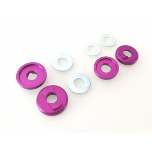 Old School BMX 3/8 Drop Out Savers Front and Rear Purple by Sidekick