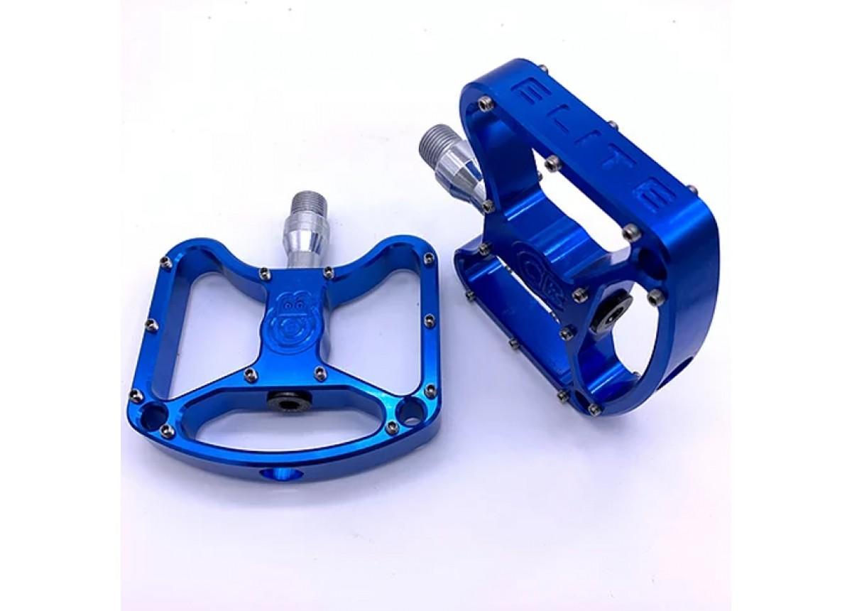 Old School BMX Bullseye Elite Platform Pedals Blue