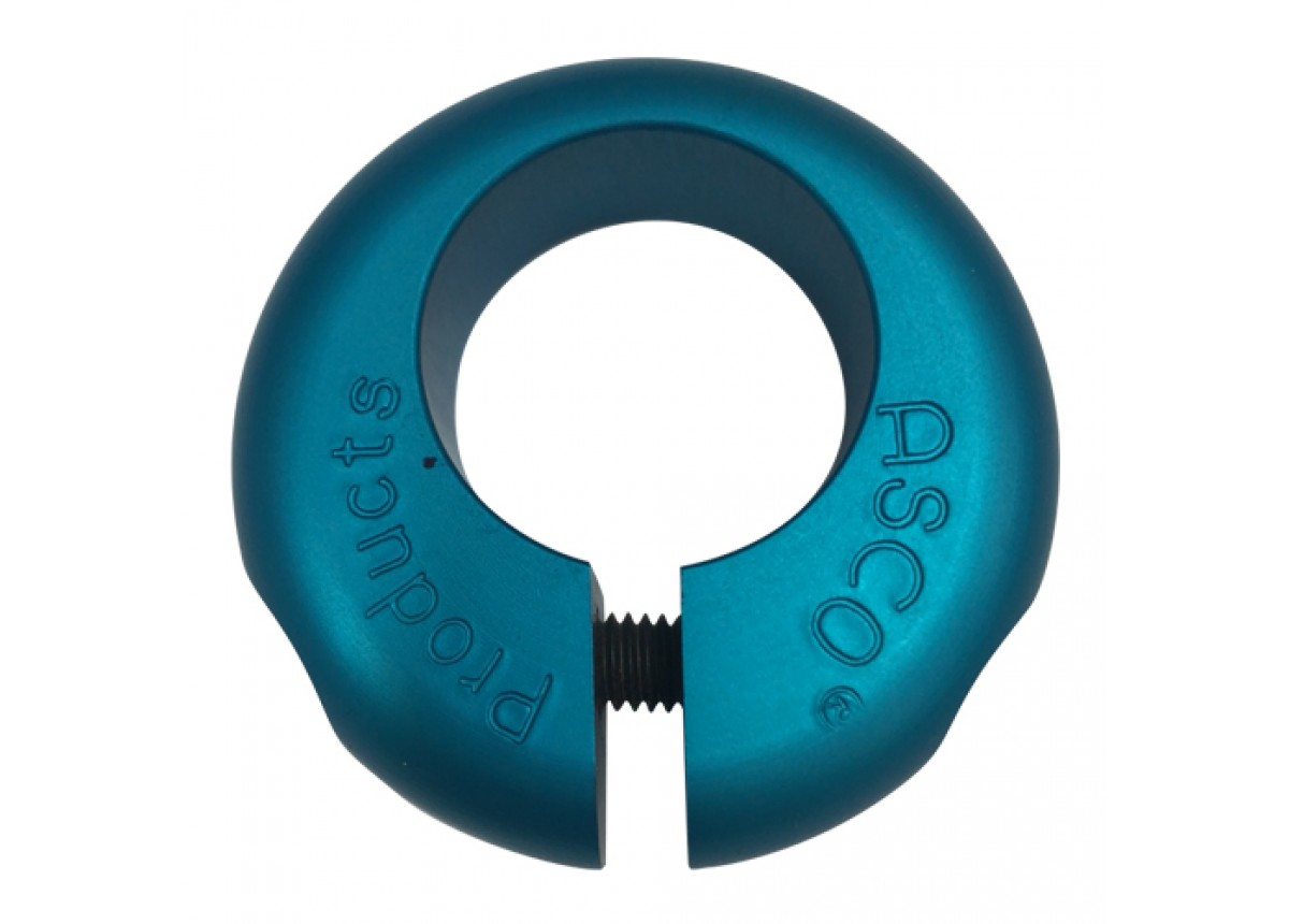 Old School BMX NOS Donut Seat Clamp Blue by Asco
