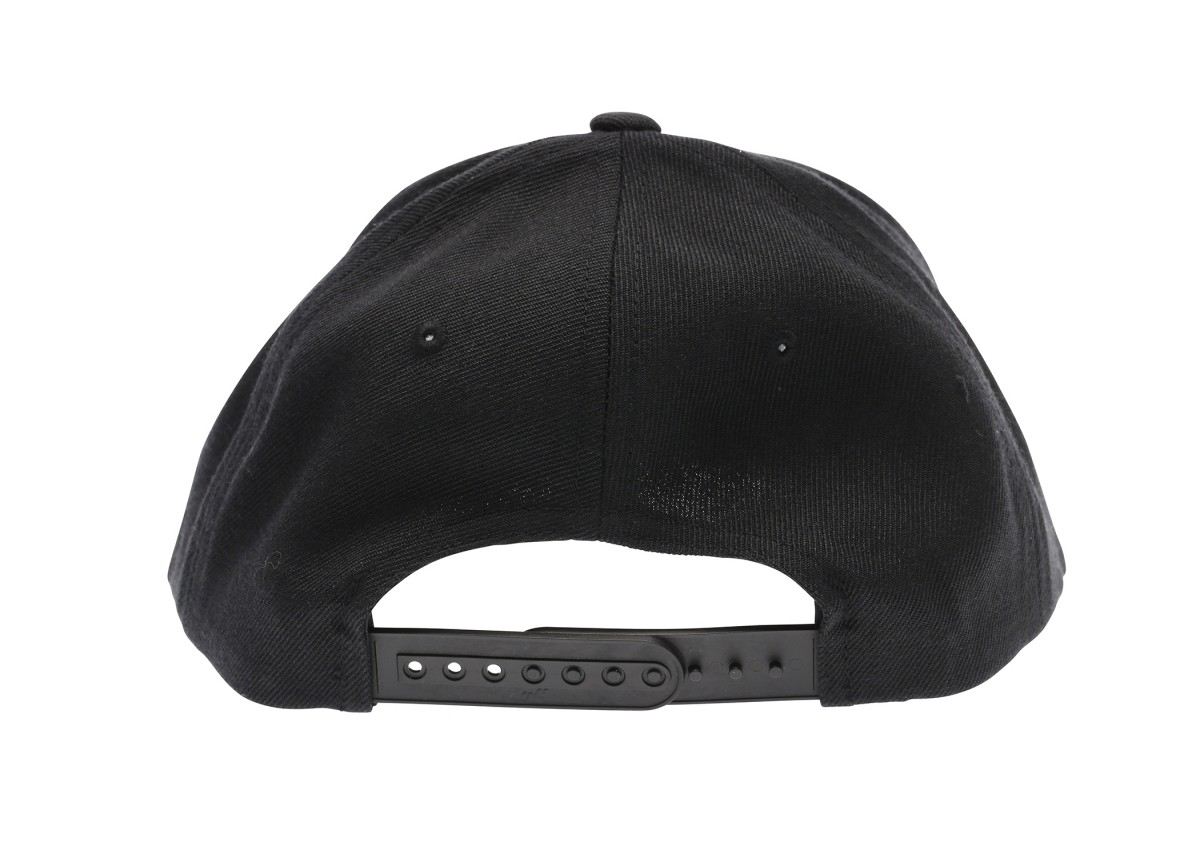 Old School BMX Haro Script Flat Bill Snap Back Hat Black (One Size Fits All)