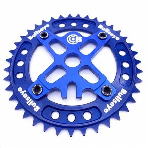 Old School BMX Bullseye Raceworks Pro-Drive Chainring 110BCD Combo (5-Bolt) 39T Blue by Bullseye