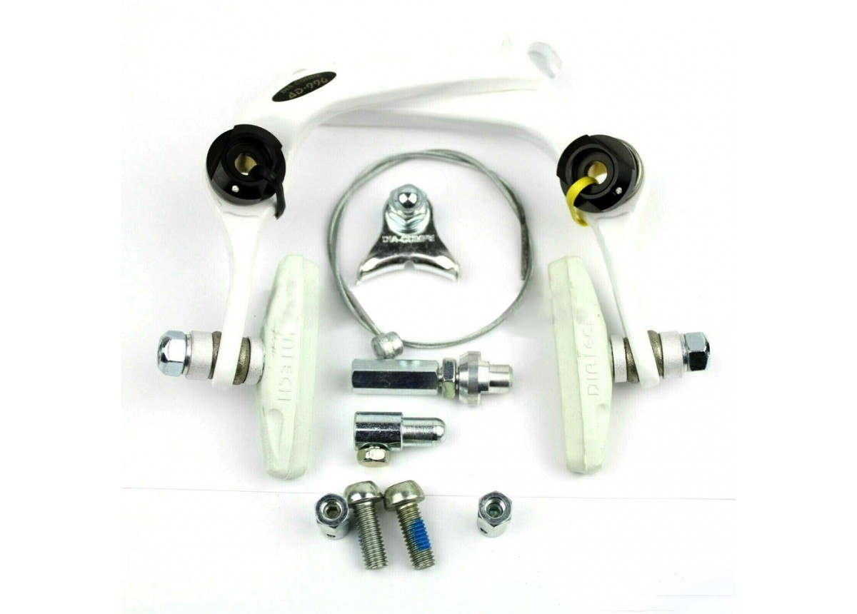 Old School BMX AD-996 U-Brake White with White Pads by Dia Compe